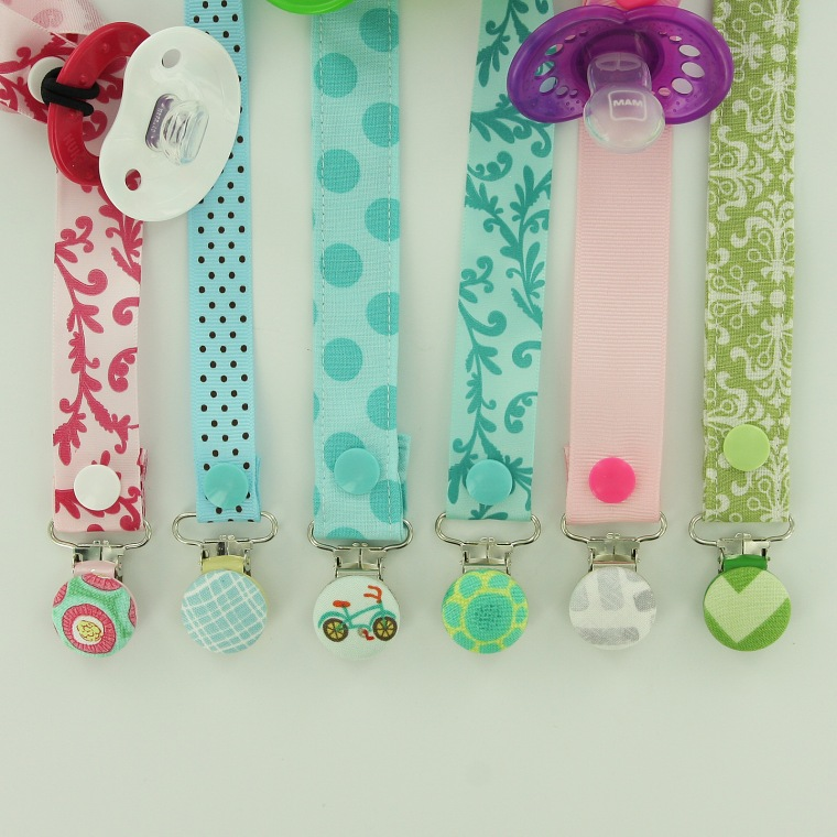 Cover Button Metal Pacifier Clips pic23