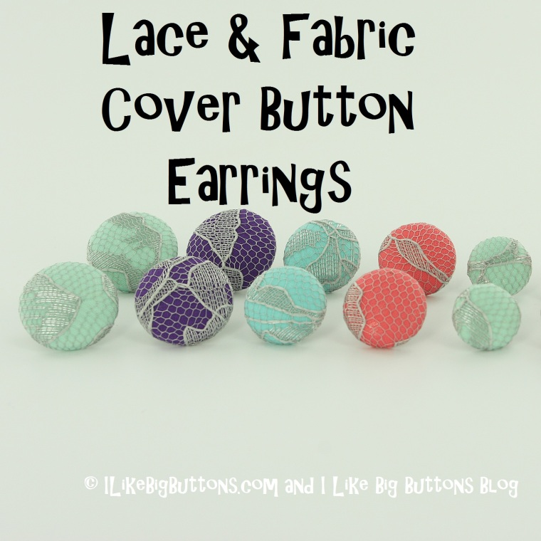 Lace Cover Button Earrings pic Title